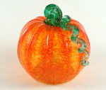 Medium Glass Pumpkin - Orange