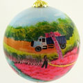 Cranberry Harvest Ball Ornament