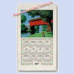 linen calendar towels