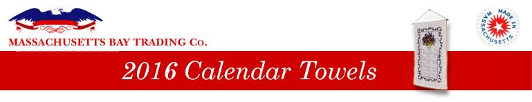 2016 Calendar Towels