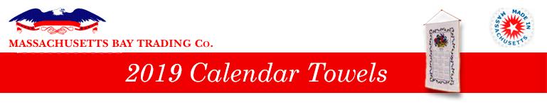 2019 Calendar Towels