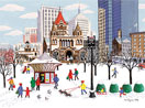 Winter in the Copley Square, Boston
