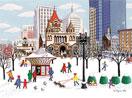 Winter in the Copley Square, Boston