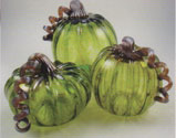 Hand made glass pumpkins