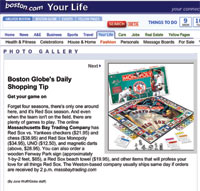 Red Sox Monopoly in the Boston Globe