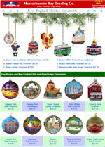 Boston and New England ornament flyer