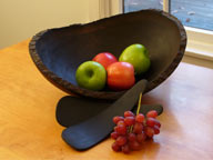 Ebonized Cherry Oval Bowl