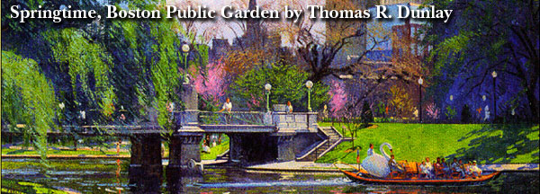 Springtime, Boston Public Garden by Thomas R. Dunlay