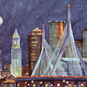 New England Gifts: Zakim Bridge Print