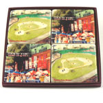 Red Sox Marble Coaster Set