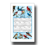 2012 Songbirds Calendar Towel