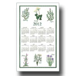 2012 Kitchen Herbs Calendar Towel