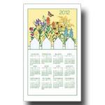 2012 Wild Flowers Calendar Towel