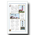 2012 Lighthouse Calendar Towel
