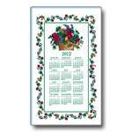 2012 Fruits and Flowers Calendar Towel