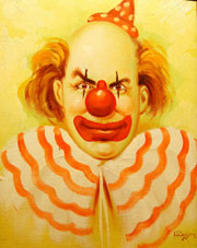 Frank Zweegers Clown bad art