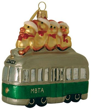 All Aboard For Christmas Landmark Ornament Boston And