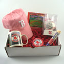 Red Sox gift set with pink hat