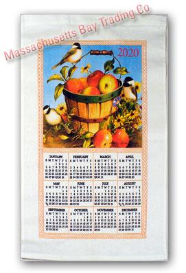 2020 Apple Basket Calendar Towel