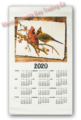 2020 Cardinal Pair Calendar Towel