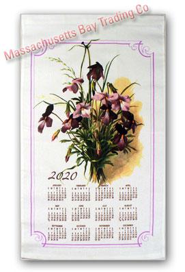 2020 Vintage Floral Calendar Towel