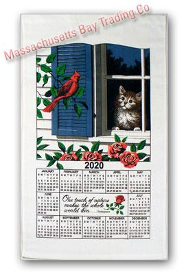 2020 Window Kitty Calendar Towel