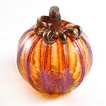 Medium Glass Pumpkin - Harvest Gold