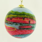 Cranberry Harvest Ball Ornament back