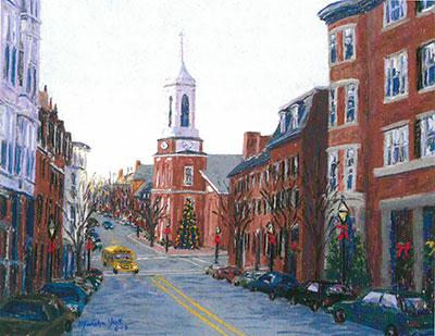 Christmas In Boston Massachusetts.Beacon Hill Christmas Boston Box Of 10 Holiday Cards