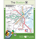 Boston MBTA Map Puzzle