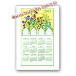2013 Wildflower Calendar Towel