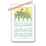 2014 Wildflower Calendar Towel
