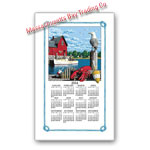 2014 Lighthouse Calendar Towel