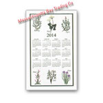 2014 Kitchen Herb Calendar Towel