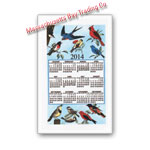 2014 Songbirds Calendar Towel