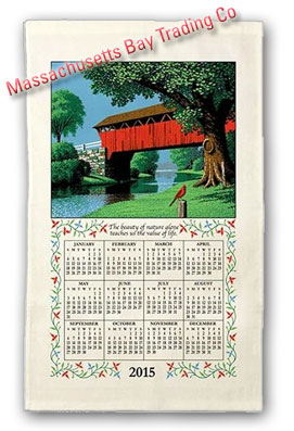 2015 Country Bridge Calendar Towel