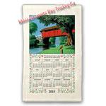 2015 Country Bridge Calendar Towel