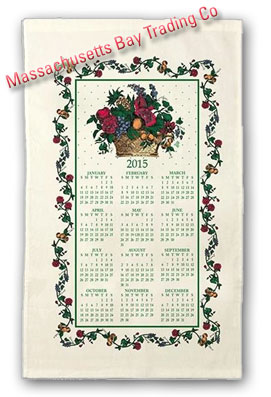2015 Fruits and Flowers Calendar Towel