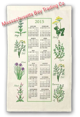 2015 Kitchen Herb Calendar Towel