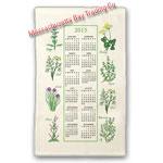 2015 Kitchen Herb Calendar Towel
