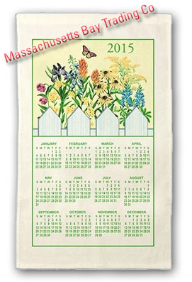 2015 Wildflower Calendar Towel