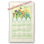 2015 Wildflower Calendar Towel