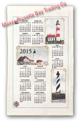 2015 Lighthouse Calendar Towel