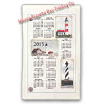 2015 Lighthouse Calendar Towel