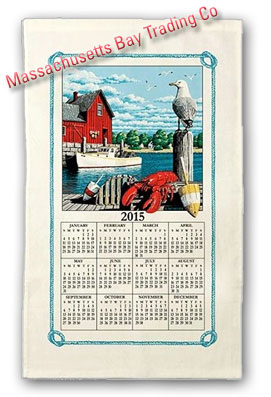 2015 Rockport Calendar Towel