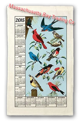 2015 Songbirds Calendar Towel