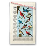 2015 Songbirds Calendar Towel
