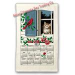2015 Window Kitty Calendar Towel