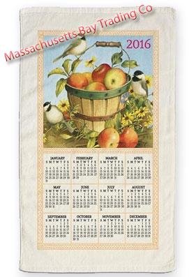 2016 Apple Basket Calendar Towel
