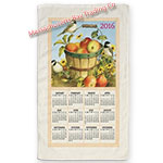 2016 Apple Basket Calendar Towel
